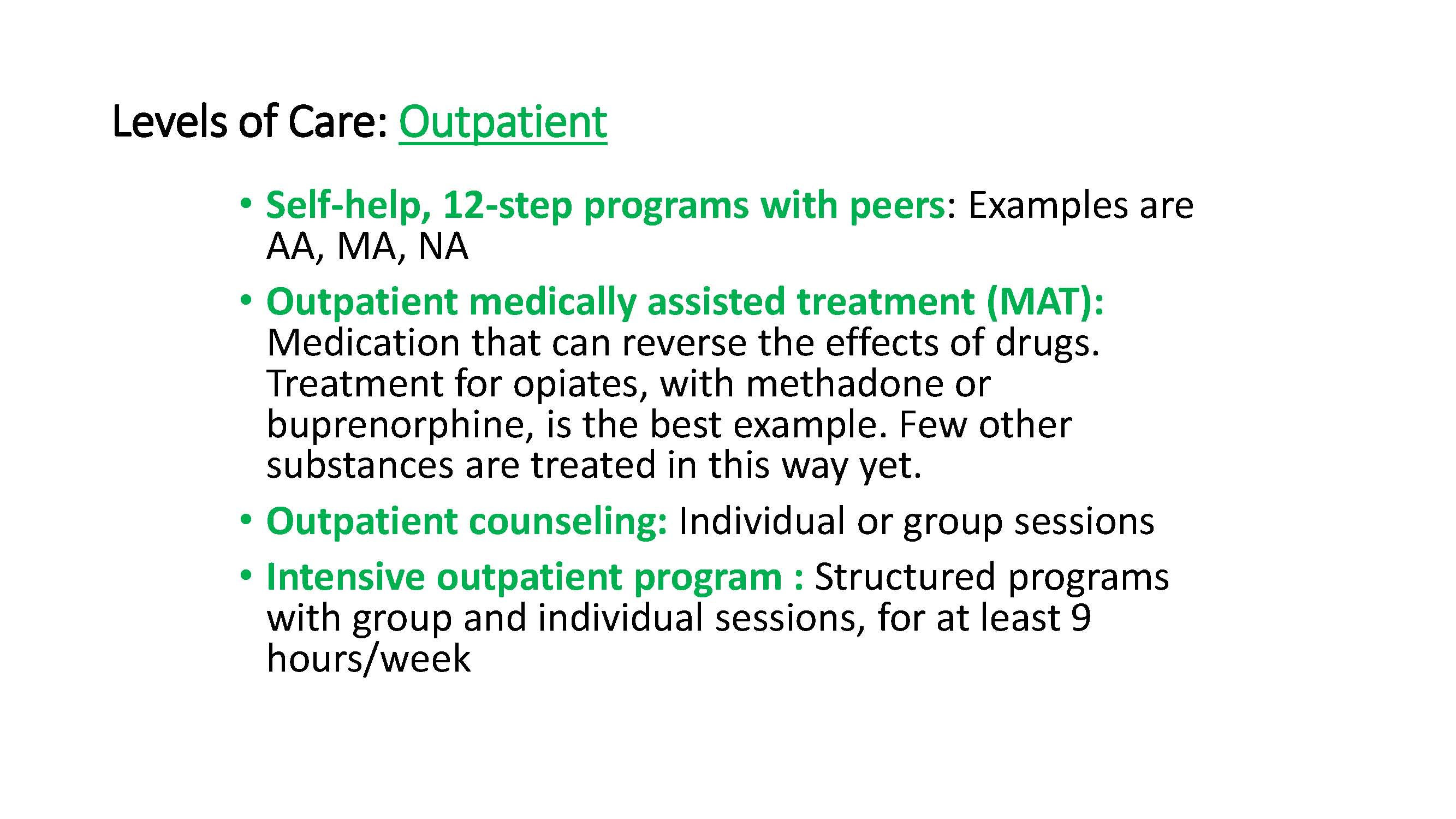 OutpatientTreatment